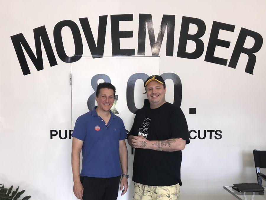 jon and chadwick at movember barber